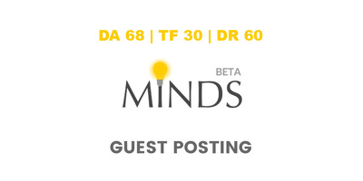 Publish a guest post on Minds - DA68, TF30, DR60