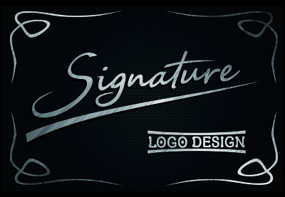 Design signature logo for you