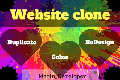 Clone, duplicate,copy or redesign any website within 24hours