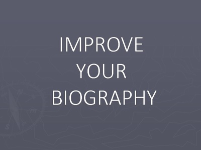 Write Your Professional Biography (up to 250 Words)
