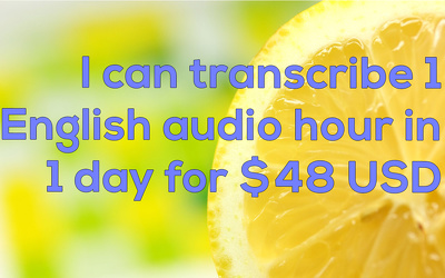 Transcribe 1 hour of English Audio in MS Word and PDF