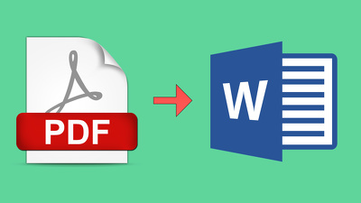 Convert 30 pages of PDF to word or Image to text