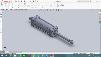 create a CAD/SolidWorks part or assembly and render