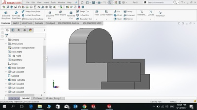 Create a 3D model on SolidWorks
