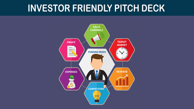 Write a business plan pitch deck with financials and power point