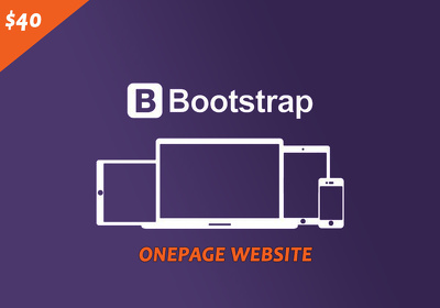 Develop a One Page  website using bootstrap framework