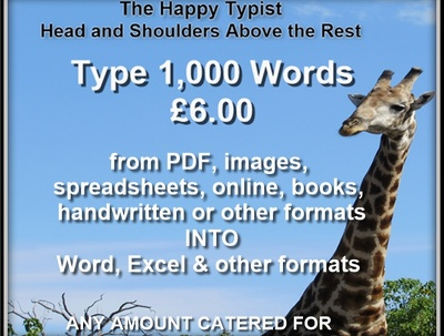 Type 2,000 words, quickly, accurately and affordably