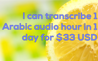 Transcribe 1 hour of Arabic Audio in MS Word and PDF