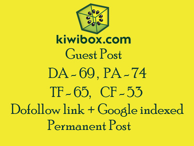 Publish a guest post on Kiwibox with dofollow link DA 69