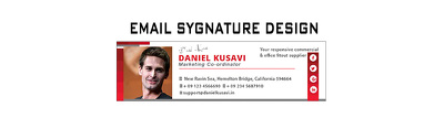 Design An Attractive Email Signature with multiple revisions