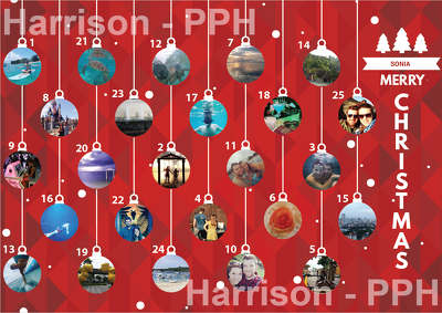 Design a custom scratch off Advent Calendar Corporate / Family