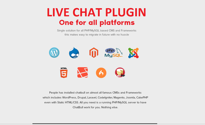 Live chat plugin for your website / mobile app
