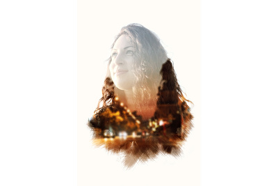 Create double exposure or multiple exposure image