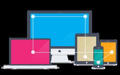 Design responsive web application mockup