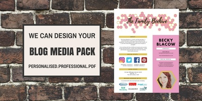 Create a 1 page blogger media pack