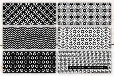 Design patterns or all over prints (black&white | monochrome)
