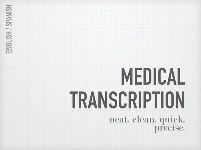 Transcribe Medical material from English or Spanish Video/Audio