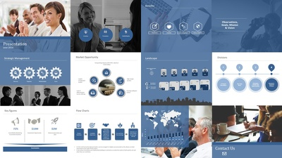 Design a visually appealing powerpoint deck of 15 slides