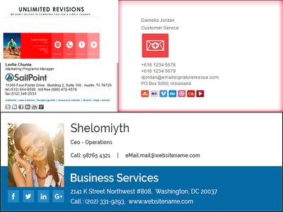 Professionally design HTML email signature.