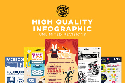 Design a high quality bespoke infographic + Unlimited Revisions