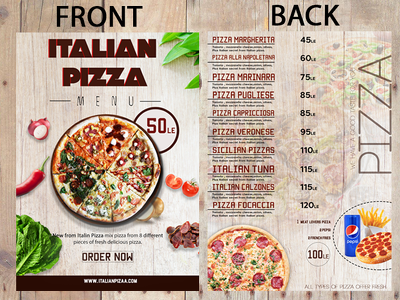 Design a menu for your restaurant Or Flyer Two-sided
