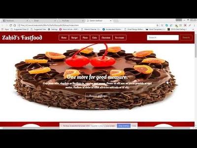 Make a website for your fast-food restaurant