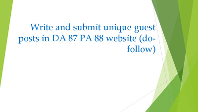 Write and guest post an article in DA 87 PA 88 (do-follow )