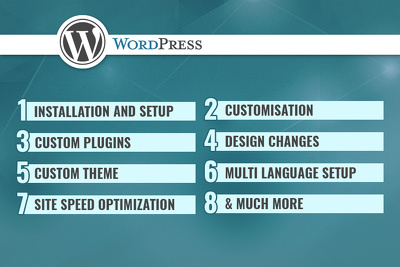 Setup WordPress website and configure it with plugins