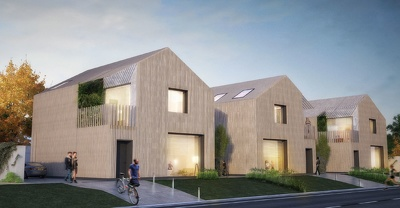 Render exterior images of architecture residential design