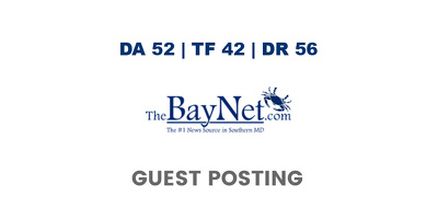 publish a guest post on TheBayNet - DA52, TF42, DR56