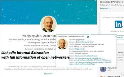 Extract Linkeidn  Open networkers Internal Information