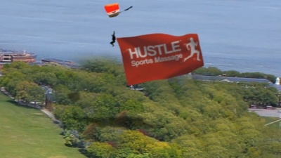 Skydive with your image on a flag like you see in my samples