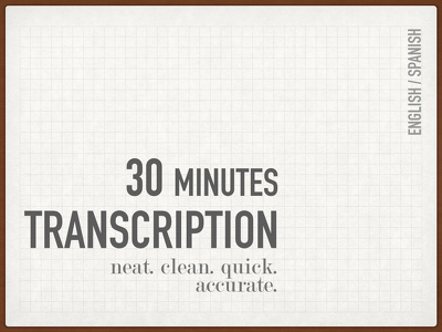Transcribe up to 30 minutes of Video/Audio in English or Spanish