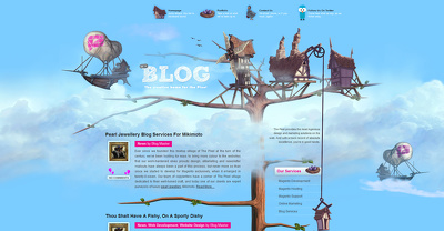 Design your creative landing/homepage of your website on PSD