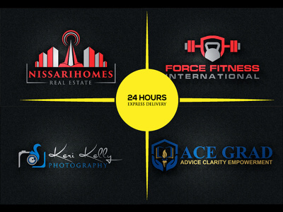 Design real estate and  fitness  logo