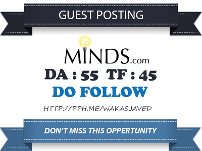 Publish guest post on Minds.com DA 55, TF 45 Dofollow