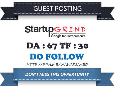 guest post on startupgrind.com DA 67 Dofollow Link