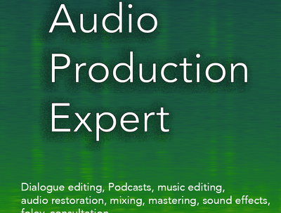Supply all your audio production needs on 15 minutes of audio