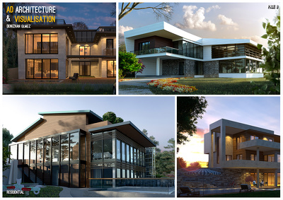 Provide 3d  exterior visualisation of a small size project