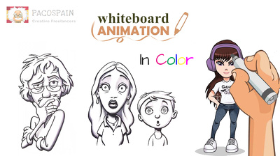 Create an amazing whiteboard animation video, in color
