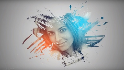 Turn a photo of you into Paint splash like the one on the Image