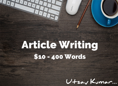 Write any article of 400 words