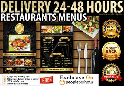 Design restaurants menus flyers