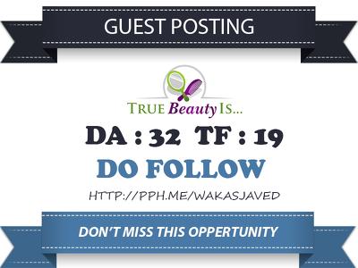 Publish Do Follow Guest Post on Health and Beauty Blog - DA 32