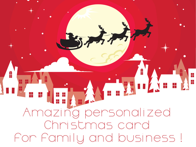 Crate Amazing personalized  Christmas card