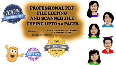 Edit Or Type Your 20 Pages PDF File Or Scanned Image
