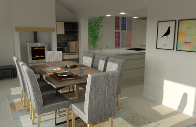 Design your kitchen in 3D HD  from a 2D plan