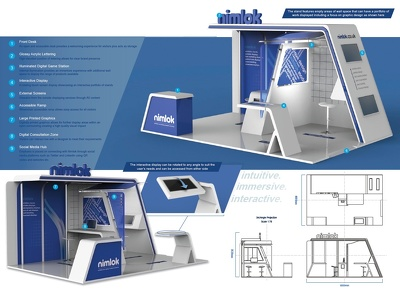 Design a realistic exhibition stand