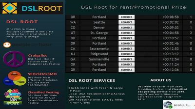 Provide DSL Root IP for Craigslist ads posting and SEO service