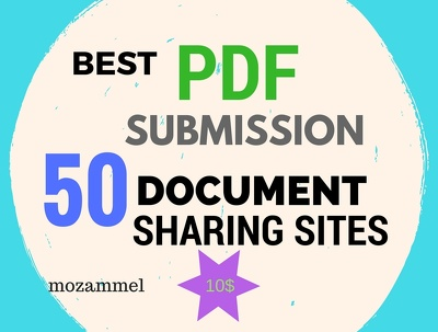Do best PDF submission to 50 document sharing sites